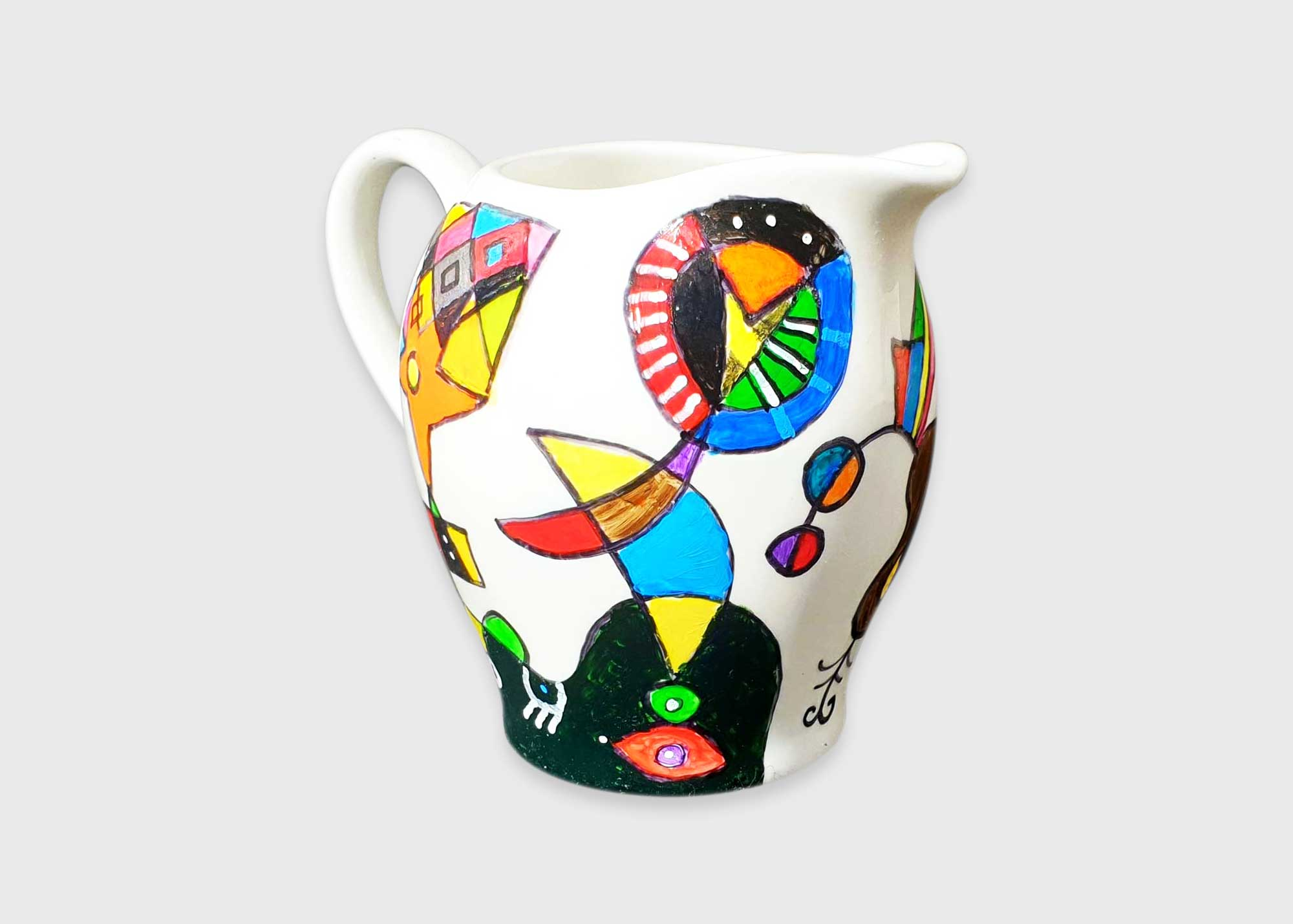 hand-painted jug