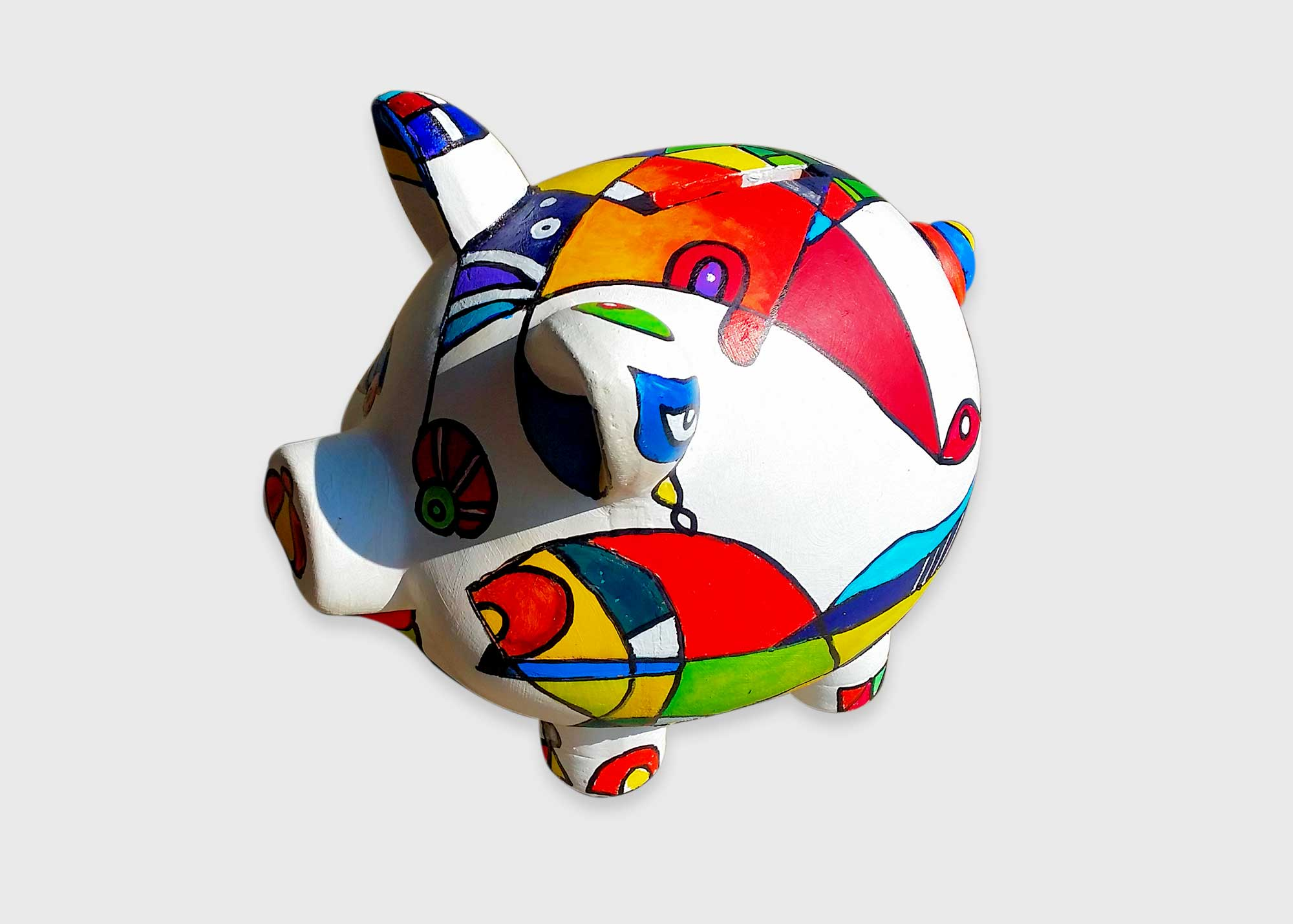 hand-painted piggy bank